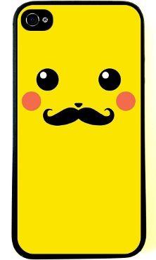 mustache Pikachu iphone 4 case pokemon