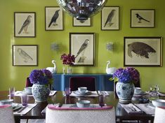 Katie Ridder Rooms - contemporary - dining room - new york - Vendome Press