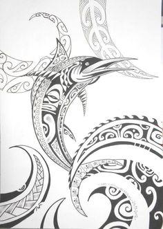 maori marlin tattoo - Google Search