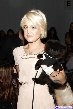 Kelly Osborne and her little Pommie
