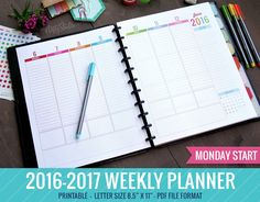 weekly academic planner - Google Search