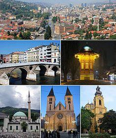 """Sarajevo (en cirílico: Сарајево; /sǎrajɛʋɔ/) es la capital y ciudad más poblada de Bosnia-Herzegovina. La ciudad es conocida por su tradicional diversidad religiosa, con fieles musulmanes, ortodoxos, católicos y judíos, que llevan conviviendo desde hace siglos. Debido a esta larga y rica historia de diversidad religiosa y coexistencia, Sarajevo es conocida como la """"Jerusalén de Europa""""."""