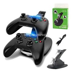 d5ec59d1db13 Century Accessory USB LED Fast Charging Stand Dock Station for Dual Xbox  One Game Controller Black