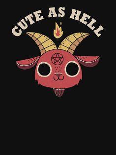 fondos kawaii 'Cute As Hell' Relaxed Fit T-Shirt by DinoMike Cartoon Character Tattoos, Goth Wallpaper, Satanic Art, Arte Obscura, Creepy Art, Aesthetic Art, Fitness Aesthetic, Dark Art, Cartoon Art