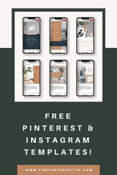 Looking to make your business look more professional and on brand? Grab these FREE Instagram templates for Canva! Brand Identity Design, Branding Design, Logo Templates, Templates Free, Business Checks, Business Journal, Free Instagram, Starting Your Own Business, Website Template