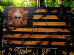 Wood sign, american flag, wood flag, rustic, spartan, delphi tactical  LaurelTree Dsigns - custom home décor - Charlotte NC / Fayetteville NC