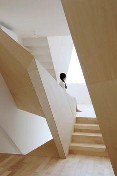 #geometrical #interior #architecture #light #wood #white