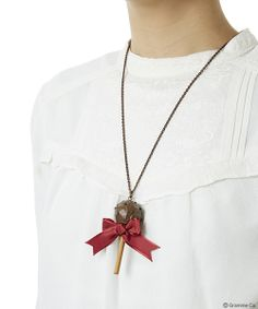 Lollipop Ribbon Chocolat Necklace(DBRW)