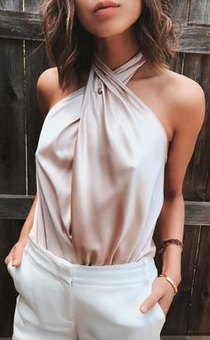 Blush halter top