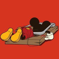 ... y sería con Mickey. Adiós niñez !