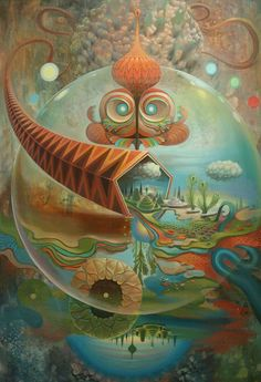Surrealism and Visionary art: Mars-1 / Sacred Geometry <3