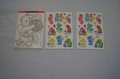Vintage 1980's - Care Bear Stickers Package with Two Sheets by TheMercerStreetHouse on Etsy