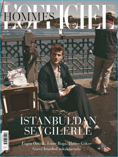 Clément Chabernaud covers the most recent issue of L'Officiel Hommes Turkey.