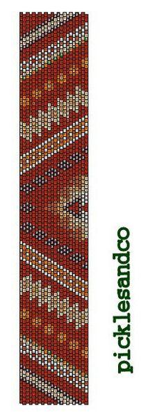 Navajo Rug peyote bracelet cuff beading pattern PDF personal use download