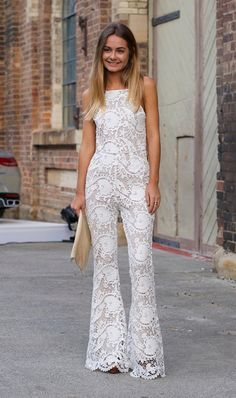 lace flared trousers at a wedding - Google Search