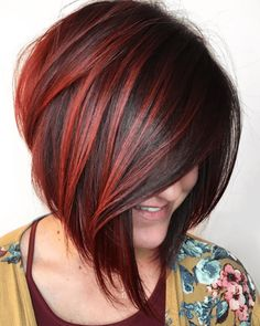 Find here a lot of best ideas of bob hairstyles a ong with vibrant red shades. You must use to wear this awesome bob hair look if you really wanna get unique and bold look. Red Hair Color, Cool Hair Color, Blue Hair, Wavy Hair, Dyed Hair, Coily Hair, 4c Hair, Thick Hair, Short Hair Cuts