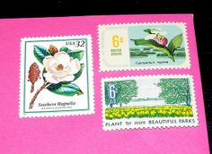 TreasureFox on Etsy. Vintage postage stamps. Add a few pretties to your invitations.