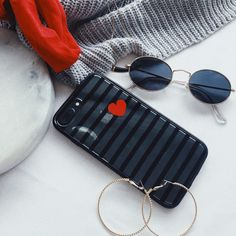 red and black phone case with pop of red kroma phone case iPhone case accessories iPhone 8 + cases striped iPhone case ✨