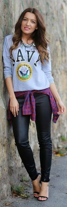 Marine sweatshirt instead. New Outfit Post & Giveaway Winners  by Sandra's Fashion Corner