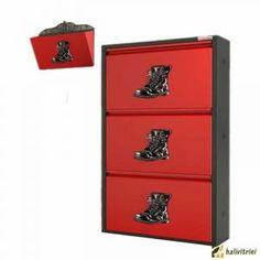 Metal Ayakkabılık Pappuchbox 3Lü TK DE5016 Filing Cabinet, Showroom, Storage, Furniture, Home Decor, Purse Storage, Decoration Home, Room Decor, Larger