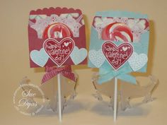 Hearts a Flutter Lollipop Holder by Haileydy - Cards and Paper Crafts at Splitcoaststampers