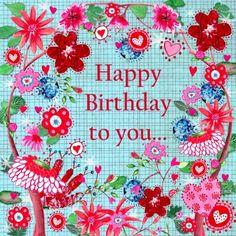 Felicitatie Verjaardag Jarig Bloemen (Cartita Design ©2015)