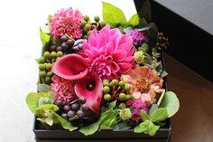Box Rose Flower Arrangement    ksflower.jp/featured/box-flower-arrangement.html