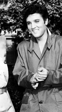 Cropped picture of Elvis actually with Judy Tyler  On the set of 'Jailhouse Rock.' 1957  TCB⚡with TLC⚡