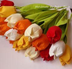 Textil tulipán (DobisMaria) - Meska.hu