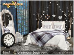 Christmas Bedroom - The Sims 4 Catalog Teen Bedroom Sets, Sims 4 Bedroom, Bedrooms, Resource Furniture, Sims 4 Cc Furniture, The Sims 4 Pack, Living Room Objects, Sims 4 Beds, Sims 4 Clutter