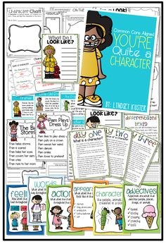 You're Quite a Character {All About Character Traits} - awesome anchor charts, lesson ideas, and differentiated texts and organizers
