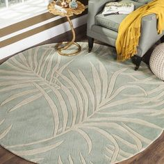 Safavieh Total Performance Wendell Hand-Hooked Area Rug or Runner, Green Floral Area Rugs, Oriental Rug, Coastal Living Rooms, Safavieh, Rugs, Thick Pile Rug, Colorful Rugs, Tropical Rugs, Classy Carpet