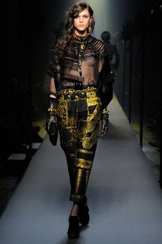 #folkloricElements #black#gold Paul Gaultier AW 2015 2015 Haute Couture