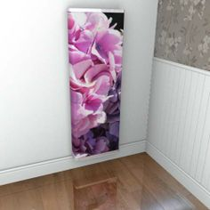 A YOYO radiator cover with hydrangea photographic image - stunning