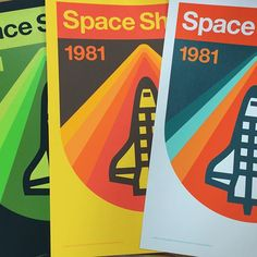 OMG!!! In-store right now along w/@draplin's famous IowaUSA screenprint posters. *last batch of the year* #space #space_shuttle #nasa #print #design #poster #screenprint #draplin #graphic_design #domestica #desmoines #iowa
