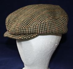 Vintage Wool Newsboy  or Driving Hat 1940's by ilovevintagestuff