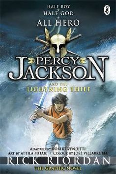 GENRE: Graphic Novel. SERIES: Percy Jackson. Look, I didn't want to be a half-blood. I never asked to be the son of a Greek God. I was just a normal kid, going to school, playing basketball, skateboarding. The usual. Until I accidentally vaporized my maths teacher. That's when things started really going wrong. Now I spend my time fighting with swords, battling monsters with my friends, and generally trying to stay alive.