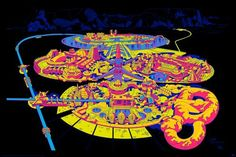 Lord of Light - Science Fiction Land  Black-light poster art by Jack Kirby with color by Barry Geller.