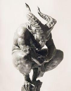 source : proteus7.tumblr.com (artist/ lubomir hij) _ collection art sculpture moderne contemporain démoniaque homme animal (demon sculpture) Sculpture Moderne, Art Sculpture, Arte Digital, Satyr, Drawing Reference, Plaster, Dark Art, Sculpting, Fantasy Art