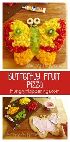 A Butterfly Fruit Pizza is a delicious treat for any occasion! This beautiful butterfly is full of tasty flavors and can be made with any of your favorite fruits!