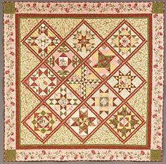 Garden party quilt pattern by blackbird designs moda for Garden party fabric by blackbird designs