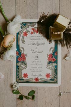 Art nouveau wedding table 67 ideas for 2019 Motifs Art Nouveau, Azulejos Art Nouveau, Bijoux Art Nouveau, Summer Wedding Invitations, Wedding Stationary, Event Invitations, Destination Wedding Themes, Wedding Planning, Wedding Locations