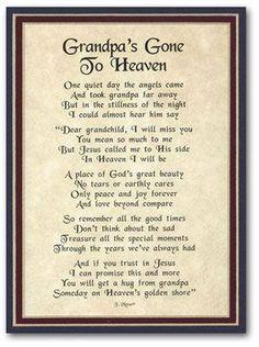 Definitely needing this today. Love and miss my grandpa.