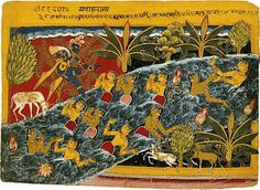 Krishna and Gopis in the river. Srimad Bhagavatam: Canto 10 - Chapter 22