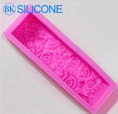 Molde Barra de Silicona con Rosas