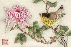 My Autumn Garden - Original Fine Art for Sale - © Jinghua Gao Dalia