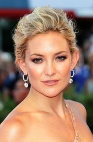 soft updo, kate hudson, wedding hair