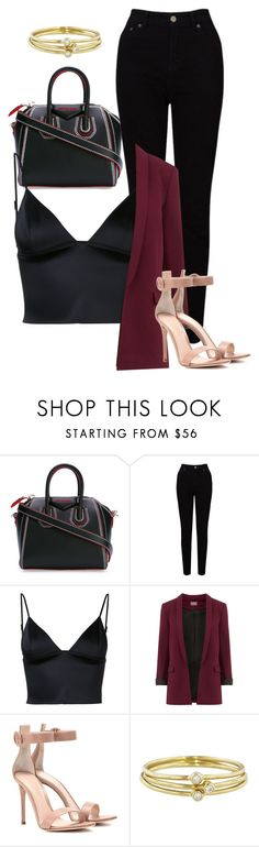 """""""Untitled #621"""" by aya-omar ❤ liked on Polyvore featuring Givenchy, EAST, T By Alexander Wang, Gianvito Rossi and Jennifer Meyer Jewelry"""