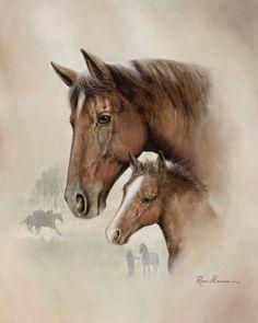 Race Horse I Print by Ruane Manning at Art.com
