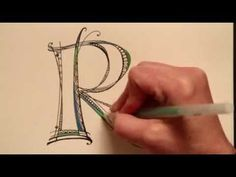 Video of how to do artistic letters - definitely worth a watch!